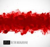 在白色背景的大明亮的红色血液难看的东西飞溅 免版税库存图片
