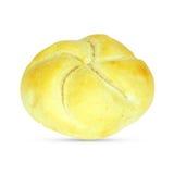 在白色背景的大面包 剪报 库存照片