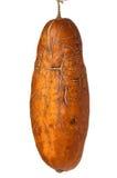在白色背景的太熟黄瓜 免版税图库摄影