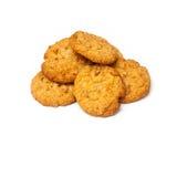 在白色背景的安扎克饼干 图库摄影