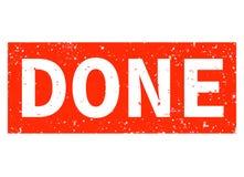 在白色背景的完成的红色不加考虑表赞同的人 完成的邮票标志 库存例证