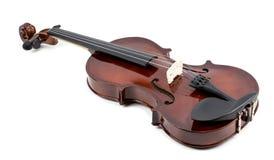 在白色背景的小提琴!! 免版税库存图片