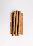 在白色背景的小雪茄烟 免版税库存图片