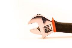 在白色背景的工具,板钳 免版税库存照片
