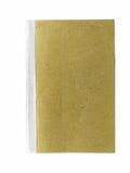 在白色背景的布朗书 免版税库存图片