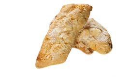 在白色背景的希腊曲奇饼 免版税库存图片