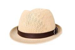 在白色背景的帽子,帽子经典之作 免版税库存图片
