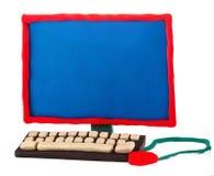 彩色塑泥计算机 库存图片