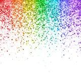 在白色背景的彩虹下跌的闪烁 向量 库存照片