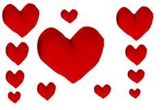 在白色背景的心脏形状 免版税库存照片