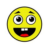 在白色背景的快乐的面带笑容 免版税库存图片