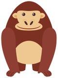 在白色背景的愉快的大猩猩 向量例证
