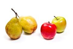 在白色背景的成熟水多的果子 剪报轻拍 免版税图库摄影