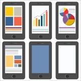 在白色背景的手机 演艺界图表 免版税库存照片