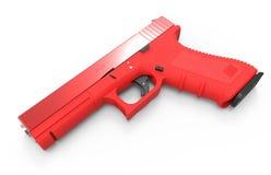 在白色背景的手枪 3d回报 免版税库存照片