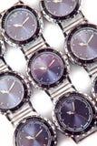 在白色背景的手表 库存照片