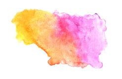 在白色背景的抽象五颜六色的水彩,五颜六色的水彩飞溅在本文的,抽象被绘的例证设计 皇族释放例证