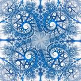 在白色背景的抽象五颜六色的花饰 免版税库存照片