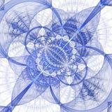 在白色背景的抽象几何装饰品 免版税库存图片