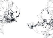 在白色背景的抽象分子结构 免版税库存照片