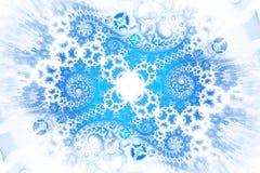 在白色背景的抽象复杂蓝色螺旋 免版税图库摄影