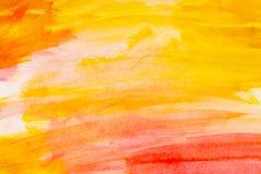 在白色背景的抽象红色水彩 颜色飞溅 图库摄影