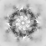 在白色背景的抽象花坛场 免版税库存图片