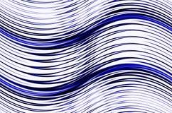 在白色背景的抽象蓝色波形 库存图片