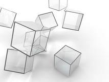 玻璃立方体 向量例证
