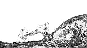 在白色背景的抽象水飞溅 库存照片