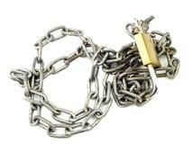 挂锁和链子 免版税库存照片