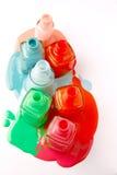 在白色背景的指甲瓶 库存图片