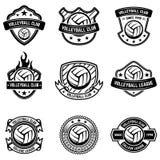 在白色背景的排球象征 设计商标的,标签,象征,标志,徽章元素 库存图片