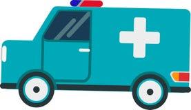 在白色背景的救护车传染媒介 向量例证