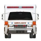在白色背景的救护车 库存图片