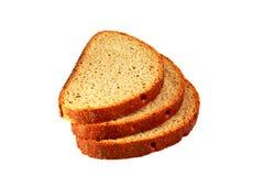 在白色背景的敬酒的面包 库存图片