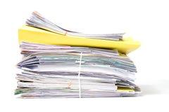 在白色背景的文件 免版税库存图片