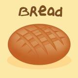 在白色背景的新近地被烘烤的面包 库存照片