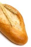 在白色背景的新鲜面包 库存照片