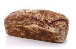 在白色背景的新鲜面包 免版税库存图片