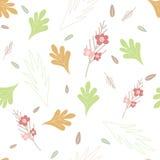 在白色背景的无缝的花纹花样 库存图片