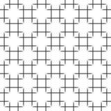 在白色背景的无缝的黑角规样式 美好的传染媒介例证EPS10 图库摄影