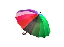 在白色背景的明亮的多彩多姿的伞 库存图片