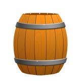 在白色背景的木棕色桶 免版税库存图片