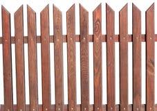 在白色背景的木篱芭 库存照片
