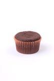 在白色背景的松饼巧克力 库存图片