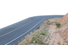 在白色背景的柏油路 免版税库存照片
