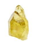 在白色背景的柠檬色水晶 免版税库存图片