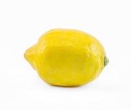 在白色背景的柠檬-正面图 免版税库存图片