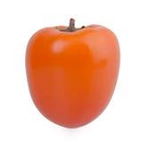 在白色背景的柿子 免版税图库摄影